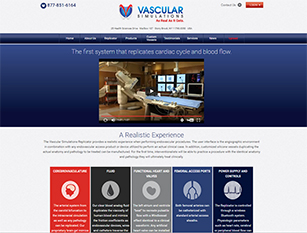 Web Design Sample - Vascular Simulations