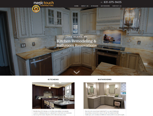 Web Design Sample - Magic Touch Contracting
