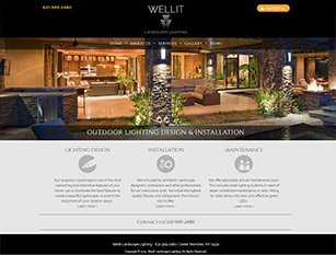 Web Design Sample - Wellit Landscape Lighting