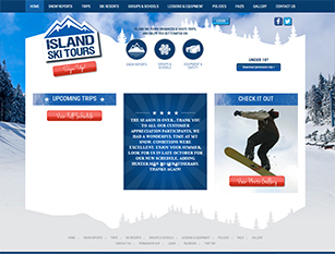 Web Design Sample - Island Ski Tours