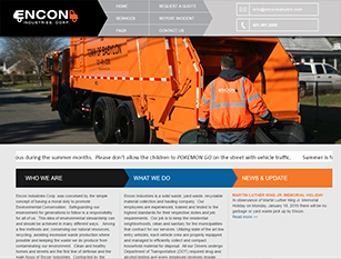 Web Design Sample - Encon Industries